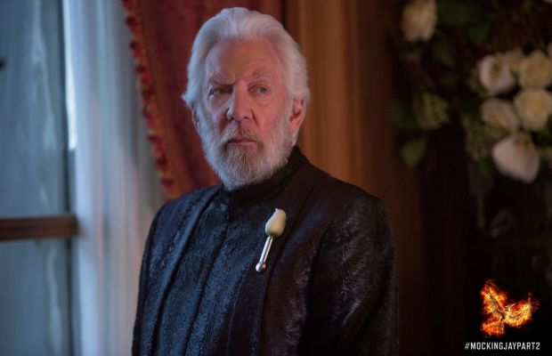 President Snow really just wanted to be a pop star. That's why he has all this anger. Photo: Hunger Games/Facebook