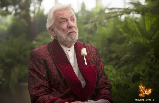 """On next season of """"The Girls Next Door,"""" President Snow has a pool party in the greenhouse. Photo: Hunger Games/Facebook"""