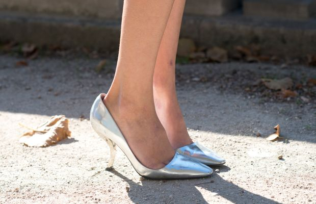 Roger Vivier heels at Paris Fashion Week in October. Photo: Kirstin Sinclair/Getty Images