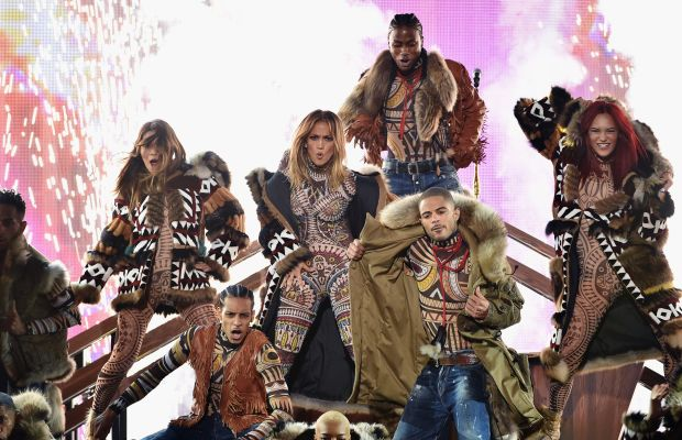 J.Lo in head-to-toe DSquared2. Photo: Kevin Winter/Getty Images
