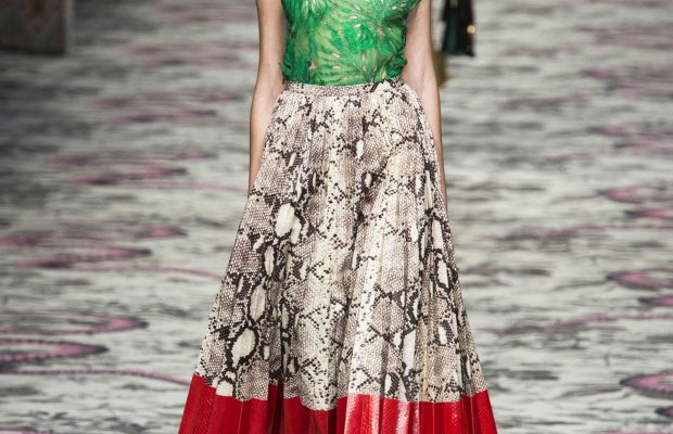 A look from Gucci's spring 2016 collection. Photo: Imaxtree