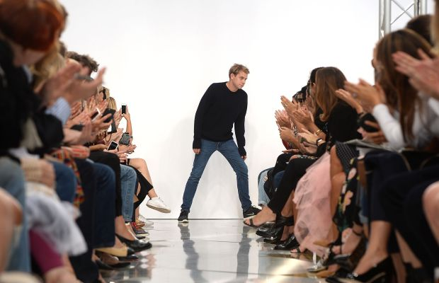 Jonathan Anderson at his spring 2016 runway show in September. Photo: Samir Hussein/Getty Images