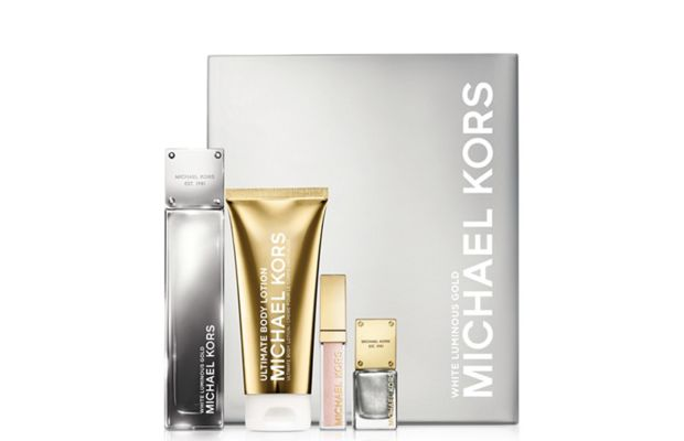 Michael Kors White Luminous Gold Gift Set, $67, available at Macy's. Photo: Michael Kors