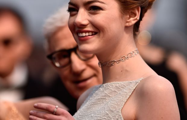 Emma Stone wears a Repossi choker at the 2015 Cannes Film Festival. Photo: Pascal Le Segretain/Getty Images