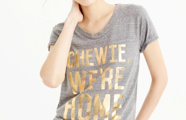 'Star Wars' for J.Crew 'Chewie, We're Home' T-shirt, $45, available at J.Crew.