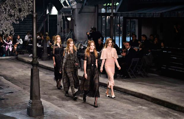 A look from Chanel's Paris in Rome 2015/16 Métiers D'Art collection. Photo: Imaxtree