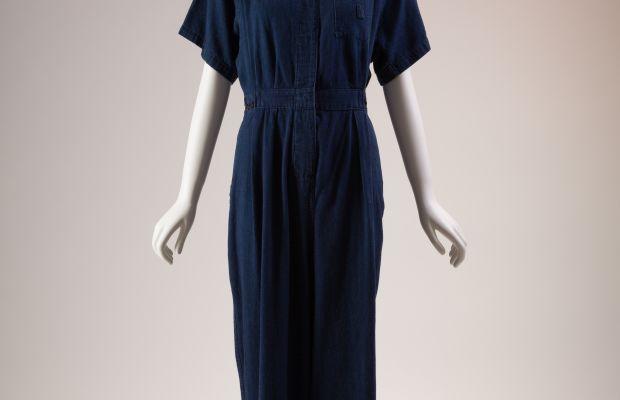 Denim jumpsuit, circa 1942-45. Photo: The Museum at FIT