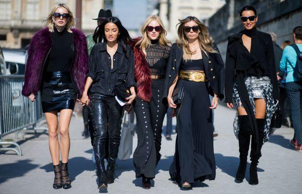 Caroline Vreeland, Shea Marie and Erica Pelosini during spring 2016 Paris Fashion Week. Photo: Christian Vierig/Getty Images