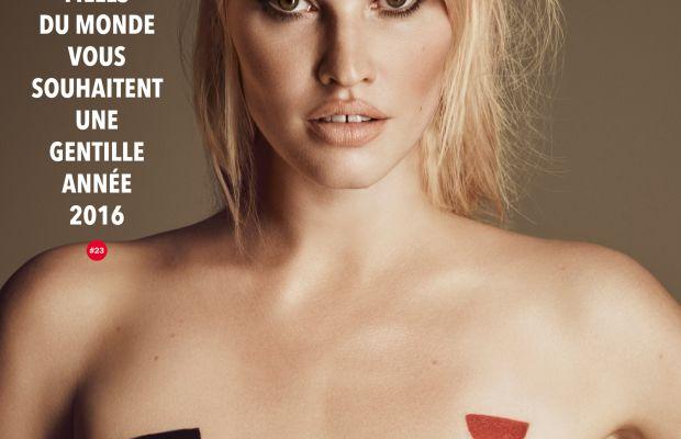 Lara Stone on the cover of 'Lui.' Photo: Lui Magazine
