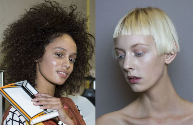 The look from the S/S 2015 Issey Miyake show, with strobing aplenty. Photos: Imaxtree