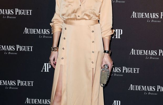 Olivia Palermo in Self-Portrait at an Audemars Piquet event on Wednesday in Los Angeles. Photo: Frederick M. Brown/Getty Images