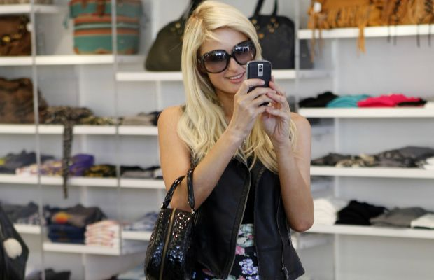 Paris Hilton shopping at Kitson in Los Angeles in November 2009. Photo: Jean Baptiste Lacroix/WireImage