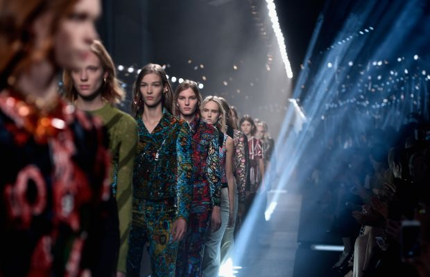 On the runway in Paris. Photo: Pascal Le Segretain/Getty Images