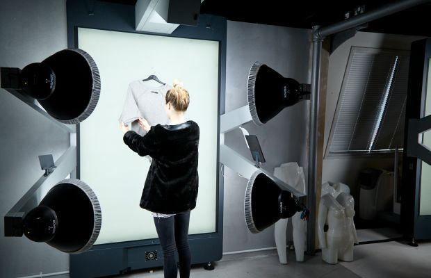 One of several StyleShoots machines in Boohoo's headquarters. Photo: Boohoo