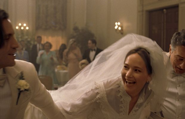 Jennifer Lawrence in one of her few non-button-down outfits in the movie. Photo: Twentieth Century Fox