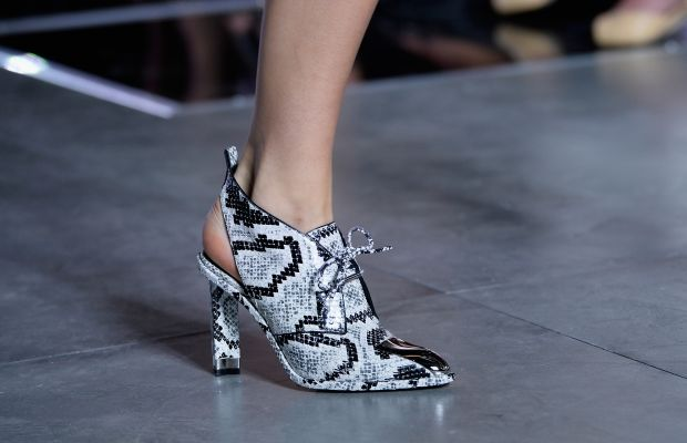 A Louis Vuitton heel from its spring 2016 collection. Photo: Pascal Le Segretain/Getty Images