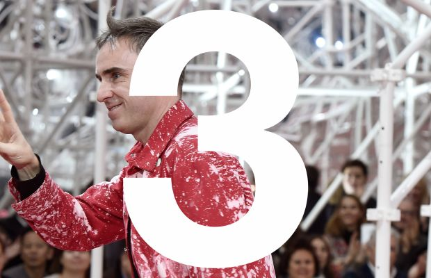 Raf Simons on the Christian Dior runway in 2015. Photo: Pascal Le Segretain/Getty Images