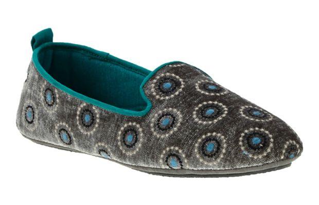 Acorn Novella slippers in Grey Velvet Dots, $59, available at Acorn.