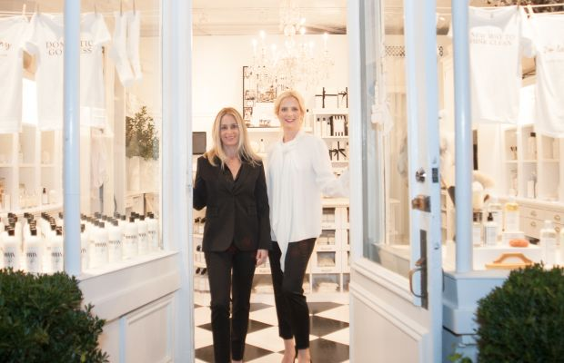 The Laundress founders Gwen Whiting and Lindsey Boyd at their new Soho store. Photo: The Laundress