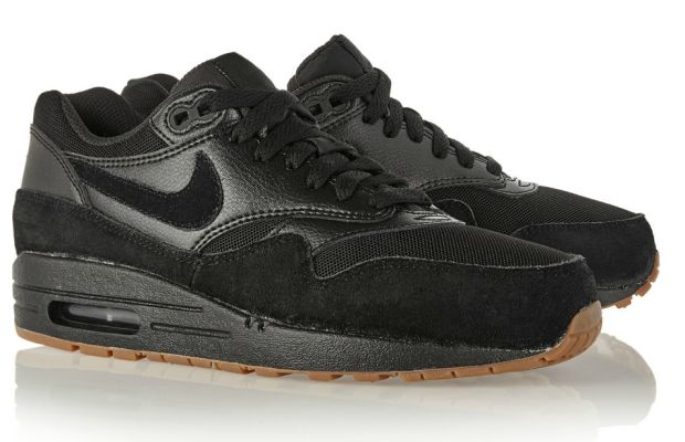 Nike Air Max 1 Essential suede, mesh and textured-leather sneakers, $125, available at Net-a-Porter.