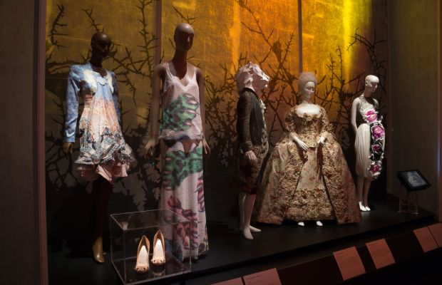 """The """"Beauty and the Beast"""" gallery inside """"Fairy Tale Fashion."""" Photo: The Museum at FIT"""