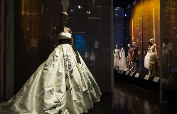 """The """"Snow White and Rose Red"""" gallery inside """"Fairy Tale Fashion."""" Photo: The Museum at FIT"""