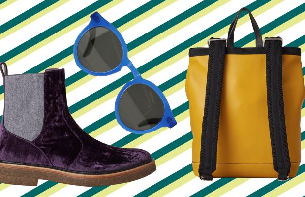 Marni backpack, now $603, available at Totokaelo; Dries Van Noten boots, now $385, available at Totokaelo; Illesteva Leonard II sunglasses, now $145, available at Totokaelo.