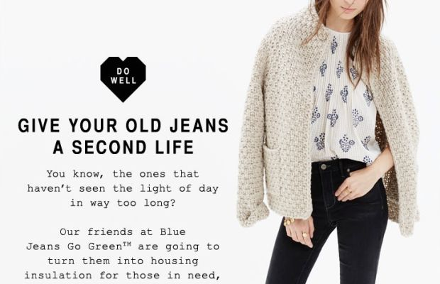 A promotion for Madewell's denim donation drive. Photo: Madewell