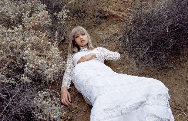 Marga Esquivel models Self-Portrait's debut bridal collection. Photo: Self-Portrait