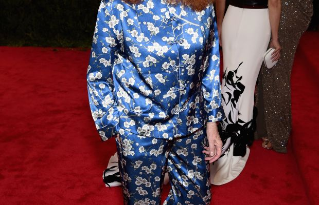 Grace Coddington at the Met Gala in 2015. Photo: Dimitrios Kambouris/Getty Images