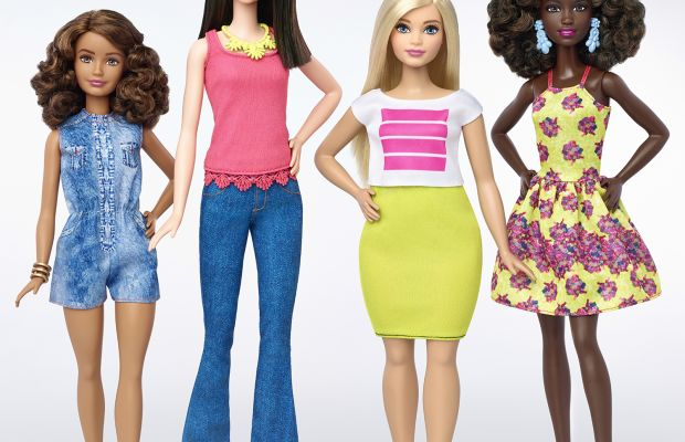 A look at Barbie's new body types, including tall, curvy and petite. Photo: Barbie