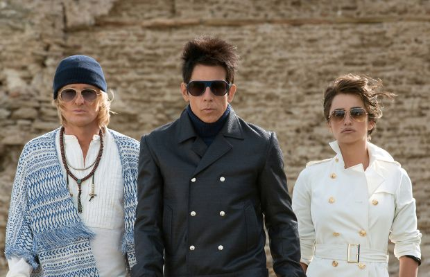 Hansel (Owen Wilson), Derek Zoolander (Ben Stiller) and Valentina (Penelope Cruz). Photo: Wilson Webb/Paramount Pictures