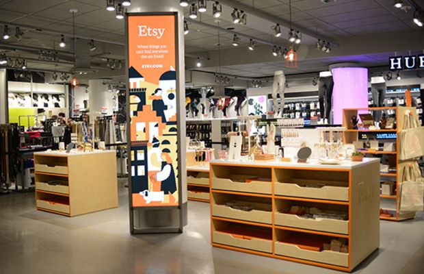 """""""The Etsy Shop"""" at Macy's Herald Square in New York City. Photo: Etsy"""