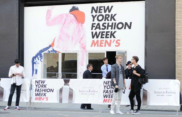 Outside Ricardo Seco's spring 2016 show during New York Fashion Week: Men's. Photo: Daniel Zuchnik/Getty Images