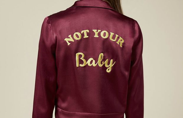 Reformation Baby Jacket (in aubergine), $228, available at Reformation.