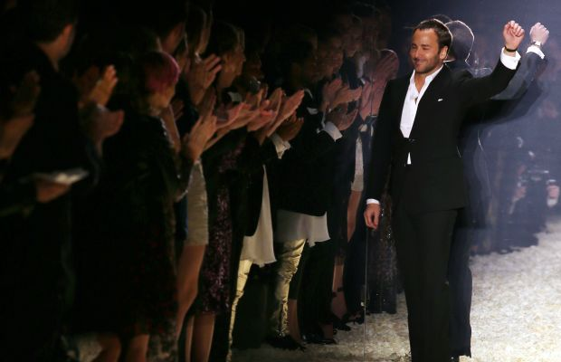 Tom Ford at his fall 2015 runway show in Los Angeles. Photo: Frederick M. Brown/Getty Images
