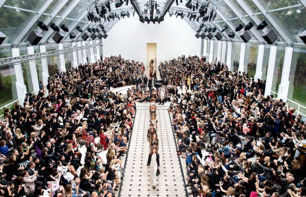 Burberry spring 2016 runway finale. Photo: Burberry