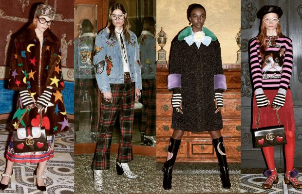 Looks from Gucci's pre-fall 2016 collection. Photos: Gucci