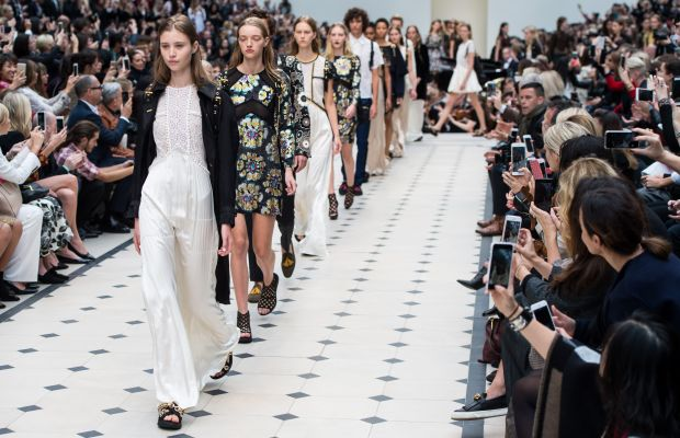 Burberry is saying goodbye to the traditional runway collection schedule. Photo: Ian Gavan/Getty Images