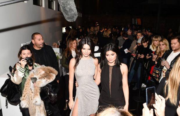 The photo swarm around Kendall and Kylie. Photo: Billy Farrell/BFA.com