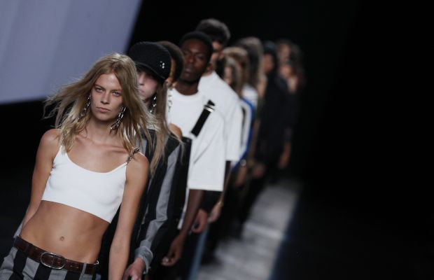 Lexi Boling in her natural habitat: opening Alexander Wang's 10-year anniversary show during spring 2016 New York Fashion Week. Photo: Antonio de Moraes Barros Filho/FilmMagic