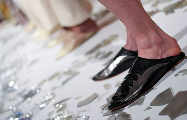 Shoes from Collina Strada's fall/winter 2016 presentation. Photo: Brian Ach/Getty Images