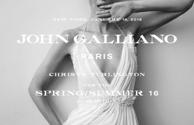 Christy Turlington for John Galliano spring 2016 campaign. Photo: John Galliano