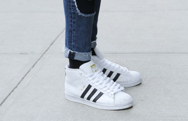 A pair of Adidas sneakers. Photo: Georgie Wileman/Getty Images