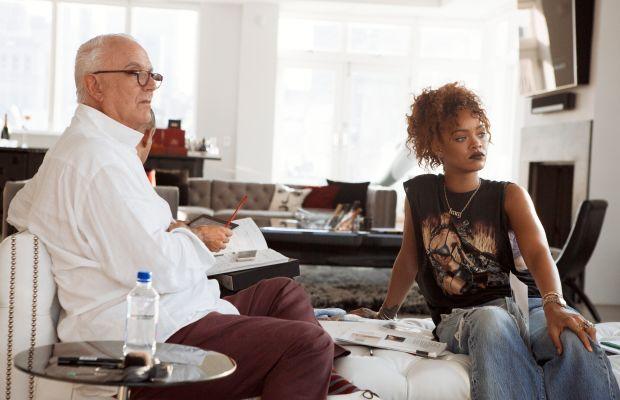 Manolo Blahnik and Rihanna. Photo: Dennis Leupold/Manolo Blahnik