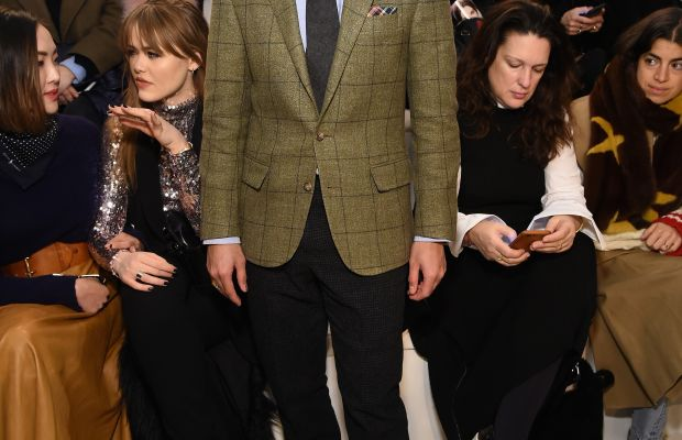 Bryan Grey Yambao at Ralph Lauren's most recent New York Fashion Week show. Photo: Mike Coppola/Getty Images