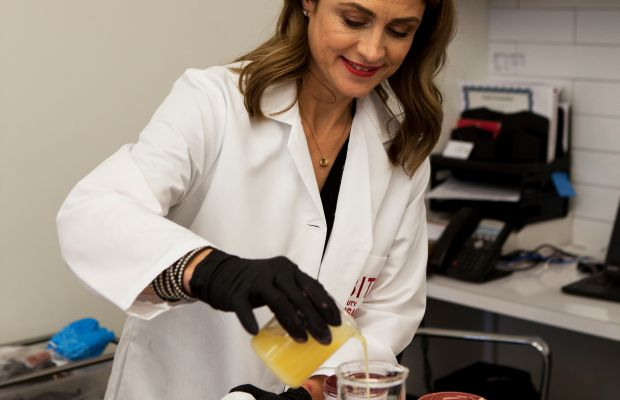 Bite Beauty founder Susanne Langmuir at the Toronto facility. (Photo: Bite Beauty)