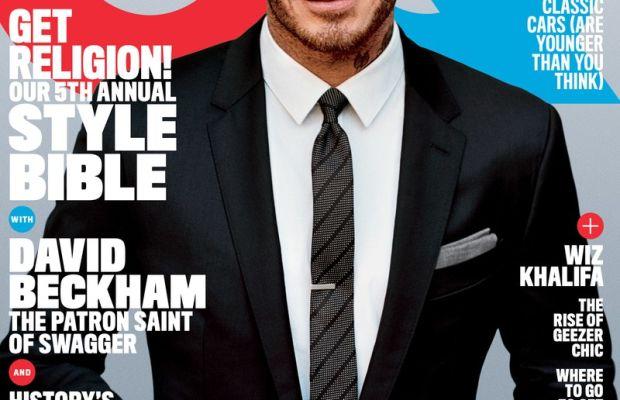 David Beckham on 'GQ,' April 2016. Photo: Alasdair McLellan/'GQ'