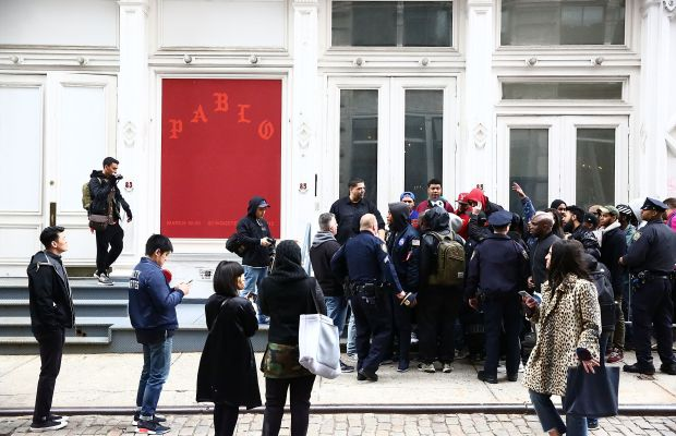 """Kanye West's """"Pablo"""" pop-up shop in New York City. Photo: Astrid Stawiarz/Getty Images"""