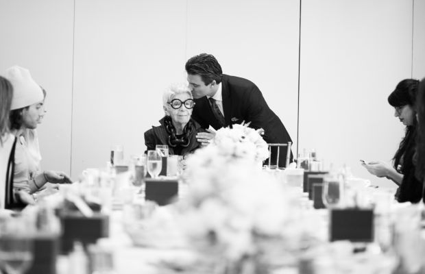 Iris Apfel and WiseWear founder Dr. Gerald Wilmink at the breakfast celebration. Photo: Courtesy